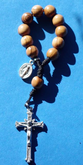 Handmade Single Decade Rosary - Olive Wood