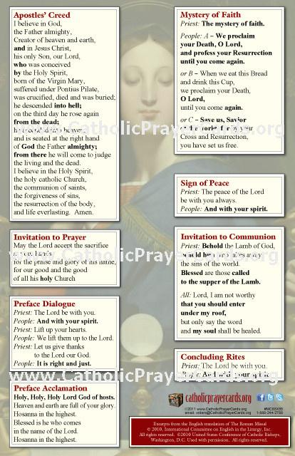 photograph regarding Free Printable Catholic Prayer Cards called Up to date M Translation Pew Playing cards